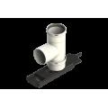 Raccordo a T 90° di supporto - Plasti Flex